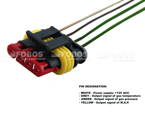 4 Pin Connector With Cable For Sensor P1 M A P Tec Map Gas